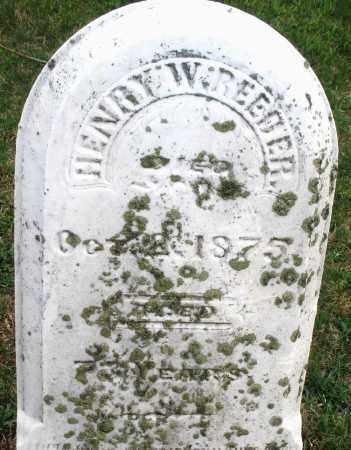 REEDER, HENRY W - Montgomery County, Ohio   HENRY W REEDER - Ohio Gravestone Photos