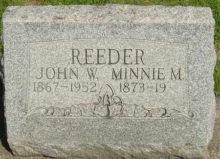 REEDER, MINNIE M - Montgomery County, Ohio   MINNIE M REEDER - Ohio Gravestone Photos