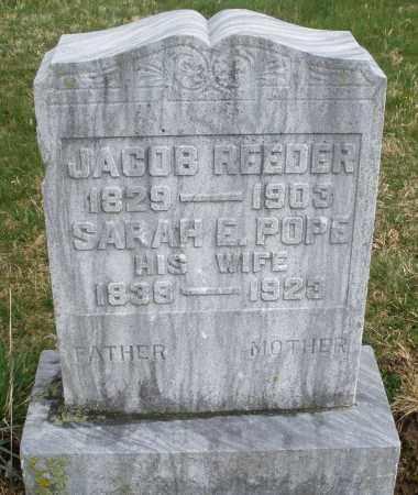 POPE REEDER, SARAH - Montgomery County, Ohio | SARAH POPE REEDER - Ohio Gravestone Photos