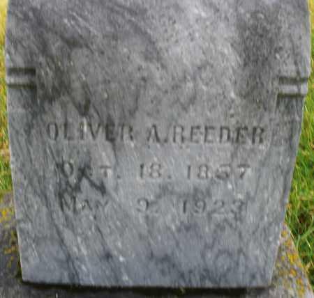 REEDER, OLIVER A. - Montgomery County, Ohio   OLIVER A. REEDER - Ohio Gravestone Photos