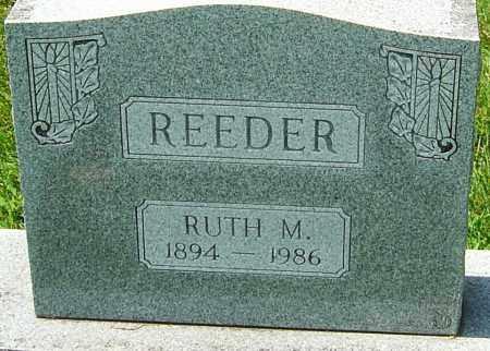 REEDER, RUTH M - Montgomery County, Ohio | RUTH M REEDER - Ohio Gravestone Photos