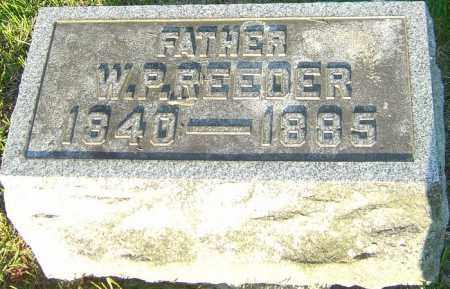 REEDER, W P - Montgomery County, Ohio | W P REEDER - Ohio Gravestone Photos