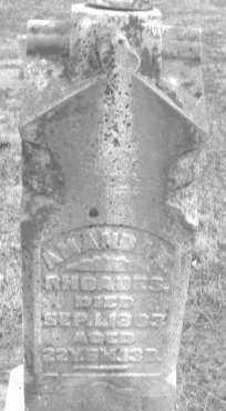 RHOADES, AMANDA - Montgomery County, Ohio | AMANDA RHOADES - Ohio Gravestone Photos
