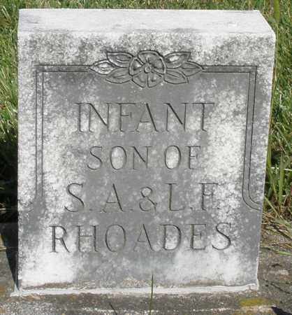 RHOADES, INFANT SON - Montgomery County, Ohio | INFANT SON RHOADES - Ohio Gravestone Photos