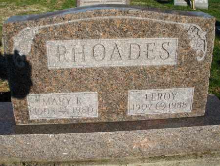 RHOADES, LEROY - Montgomery County, Ohio | LEROY RHOADES - Ohio Gravestone Photos
