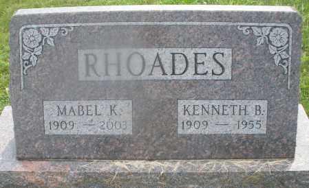 RHOADES, MABEL K. - Montgomery County, Ohio | MABEL K. RHOADES - Ohio Gravestone Photos