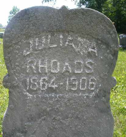 RHOADS, JULIANA - Montgomery County, Ohio | JULIANA RHOADS - Ohio Gravestone Photos