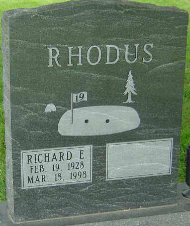 RHODUS, RICHARD E - Montgomery County, Ohio   RICHARD E RHODUS - Ohio Gravestone Photos