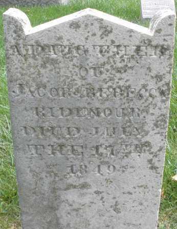 RIDENOUR, DAUGHTER - Montgomery County, Ohio   DAUGHTER RIDENOUR - Ohio Gravestone Photos