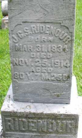 RIDENOUR, J.G.S. - Montgomery County, Ohio   J.G.S. RIDENOUR - Ohio Gravestone Photos