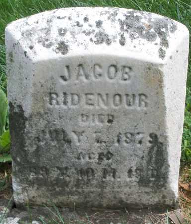 RIDENOUR, JACOB - Montgomery County, Ohio | JACOB RIDENOUR - Ohio Gravestone Photos
