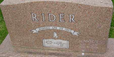 RIDER, HOWARD E - Montgomery County, Ohio   HOWARD E RIDER - Ohio Gravestone Photos