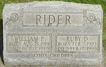 RIDER, WILLIAM P - Montgomery County, Ohio | WILLIAM P RIDER - Ohio Gravestone Photos