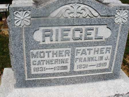 RIEGEL, FRANKLIN J. - Montgomery County, Ohio | FRANKLIN J. RIEGEL - Ohio Gravestone Photos