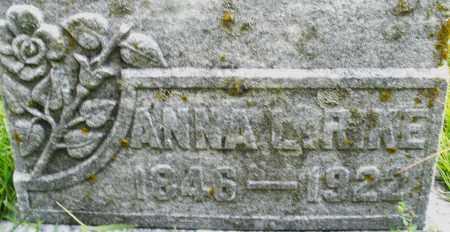 RIKE, ANNA L. - Montgomery County, Ohio | ANNA L. RIKE - Ohio Gravestone Photos