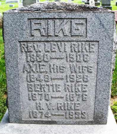 RIKE, LEVI - Montgomery County, Ohio | LEVI RIKE - Ohio Gravestone Photos