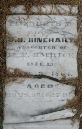 EMRICK RINEHART, ELIZABETH M. - Montgomery County, Ohio | ELIZABETH M. EMRICK RINEHART - Ohio Gravestone Photos