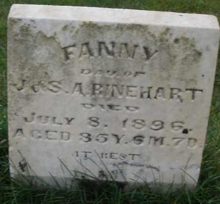 RINEHART, FANNY - Montgomery County, Ohio | FANNY RINEHART - Ohio Gravestone Photos