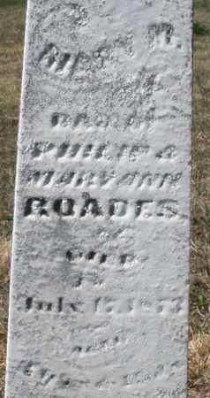 ROADES, MARY M. - Montgomery County, Ohio | MARY M. ROADES - Ohio Gravestone Photos