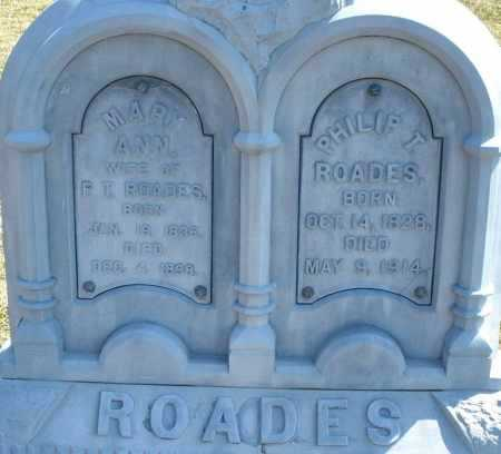 ROADES, PHILIP T. - Montgomery County, Ohio | PHILIP T. ROADES - Ohio Gravestone Photos