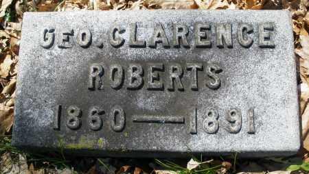 ROBERTS, GEORGE CLARENCE - Montgomery County, Ohio   GEORGE CLARENCE ROBERTS - Ohio Gravestone Photos