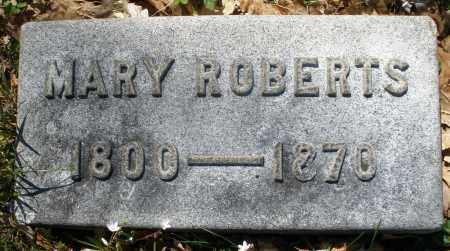 ROBERTS, MARY - Montgomery County, Ohio   MARY ROBERTS - Ohio Gravestone Photos