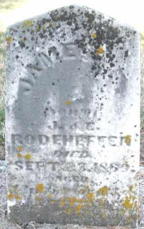 RODEHEFFER, JAMES F. - Montgomery County, Ohio | JAMES F. RODEHEFFER - Ohio Gravestone Photos