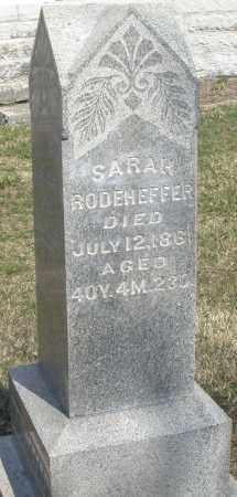 RODEHEFFER, SARAH - Montgomery County, Ohio   SARAH RODEHEFFER - Ohio Gravestone Photos