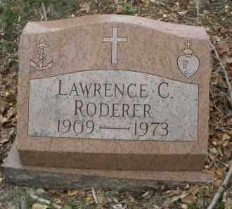 RODERER, LAWRENCE  C. - Montgomery County, Ohio   LAWRENCE  C. RODERER - Ohio Gravestone Photos