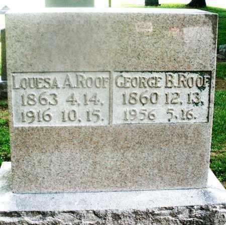 ROOF, GEORGE B. - Montgomery County, Ohio | GEORGE B. ROOF - Ohio Gravestone Photos