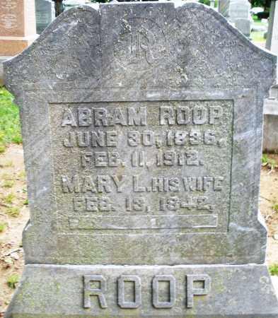 ROOP, MARY L. - Montgomery County, Ohio | MARY L. ROOP - Ohio Gravestone Photos