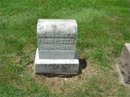ROSZELL, FRANK - Montgomery County, Ohio | FRANK ROSZELL - Ohio Gravestone Photos