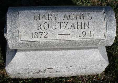 ROUTZAHN, MARY AGNES - Montgomery County, Ohio | MARY AGNES ROUTZAHN - Ohio Gravestone Photos
