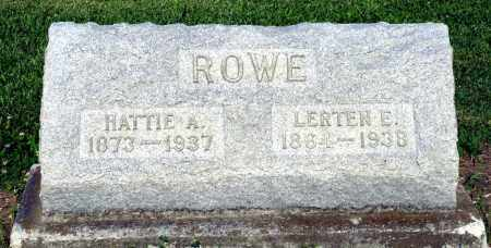 ROWE, HATTIE A. - Montgomery County, Ohio | HATTIE A. ROWE - Ohio Gravestone Photos