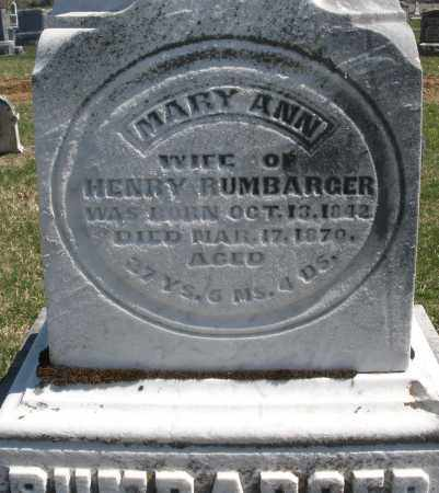 RUMBARGER, MARY ANN - Montgomery County, Ohio | MARY ANN RUMBARGER - Ohio Gravestone Photos