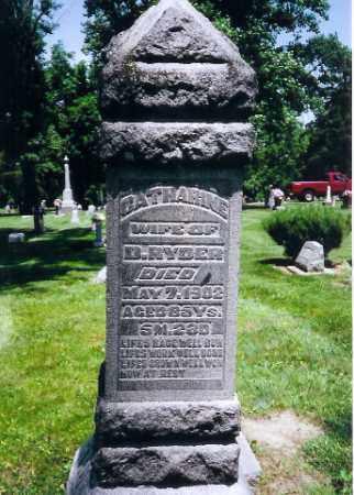 RYDER, CATHERINE - Montgomery County, Ohio | CATHERINE RYDER - Ohio Gravestone Photos