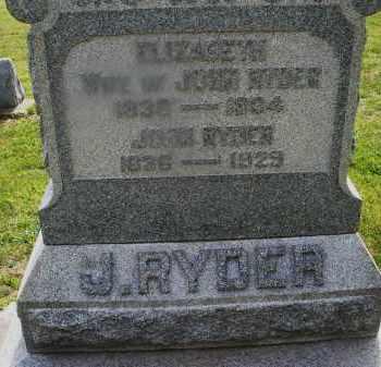 RYDER, JOHN - Montgomery County, Ohio   JOHN RYDER - Ohio Gravestone Photos