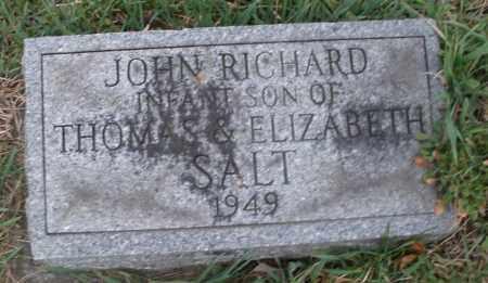 SALT, JOHN RICHARD - Montgomery County, Ohio   JOHN RICHARD SALT - Ohio Gravestone Photos
