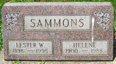 SAMMONS, HELENE - Montgomery County, Ohio   HELENE SAMMONS - Ohio Gravestone Photos