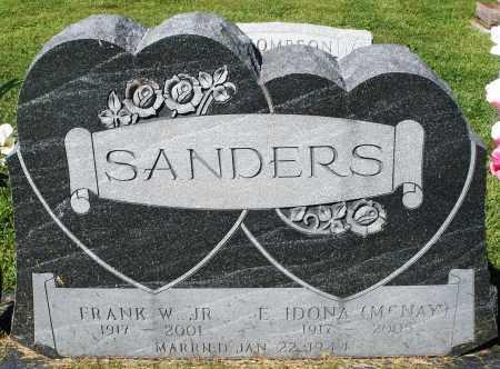 SANDERS, FRANK W. JR. - Montgomery County, Ohio | FRANK W. JR. SANDERS - Ohio Gravestone Photos