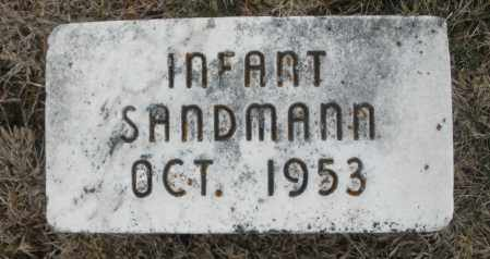 SANDMANN, INFANT - Montgomery County, Ohio | INFANT SANDMANN - Ohio Gravestone Photos