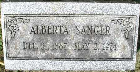 SANGER, ALBERTA - Montgomery County, Ohio | ALBERTA SANGER - Ohio Gravestone Photos