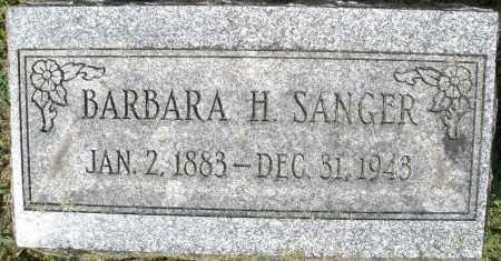 SANGER, BARBARA H. - Montgomery County, Ohio | BARBARA H. SANGER - Ohio Gravestone Photos