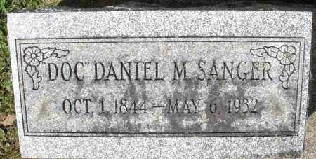 "SANGER, DANIEL M. ""DOC"" - Montgomery County, Ohio | DANIEL M. ""DOC"" SANGER - Ohio Gravestone Photos"
