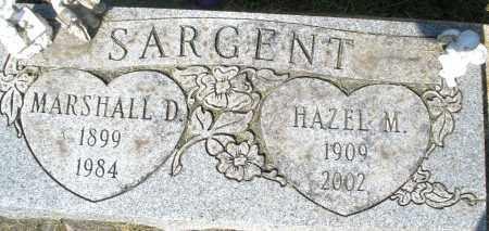 SARGENT, MARSHALL D. - Montgomery County, Ohio | MARSHALL D. SARGENT - Ohio Gravestone Photos
