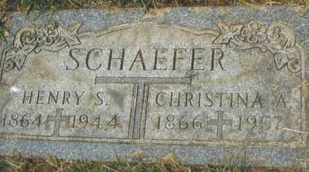 SCHAEFER, HENRY S. - Montgomery County, Ohio | HENRY S. SCHAEFER - Ohio Gravestone Photos