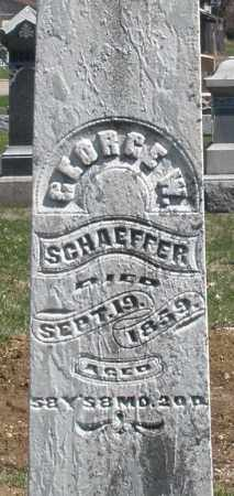 SCHAEFFER, GEORGE W. - Montgomery County, Ohio | GEORGE W. SCHAEFFER - Ohio Gravestone Photos