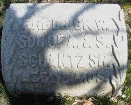 SCHANTZ, FREDRICK W. - Montgomery County, Ohio | FREDRICK W. SCHANTZ - Ohio Gravestone Photos