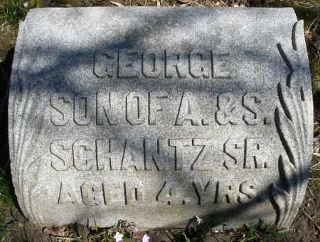 SCHANTZ, GEORGE - Montgomery County, Ohio | GEORGE SCHANTZ - Ohio Gravestone Photos