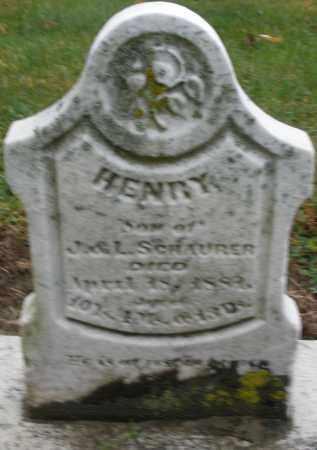 SCHAURER, HENRY - Montgomery County, Ohio | HENRY SCHAURER - Ohio Gravestone Photos